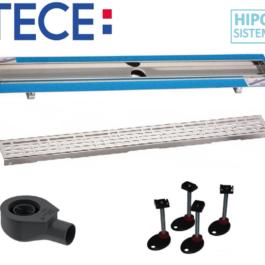 TECE podoravni tuš d600mm, BASIC rešetka