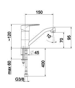 Armatura GERMAN baterija 2 cevi
