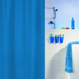 Zavesa za kadu 180x200, plava