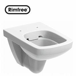 WC šolja NOVA PRO Rimfree Kolo Geberit RIMFREE konzolna WC šolja nema ivicu kao druge wc šolje, gde je značajno smanjeno sakupljanje bakterija a samim tim olakšano njeno čišćenje. Pored toga, potrošnja vode je značajno smanjena sa uobičajenih 4l na 2,6l.