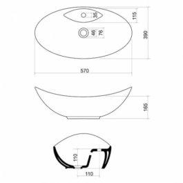 Umivaonik 57 MARANO nadgradni