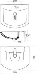 Umivaonik Armatura 55 SELLA