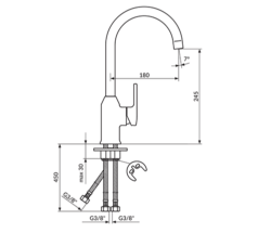 Rosan B/2 za sudoperu za prelivni bojler
